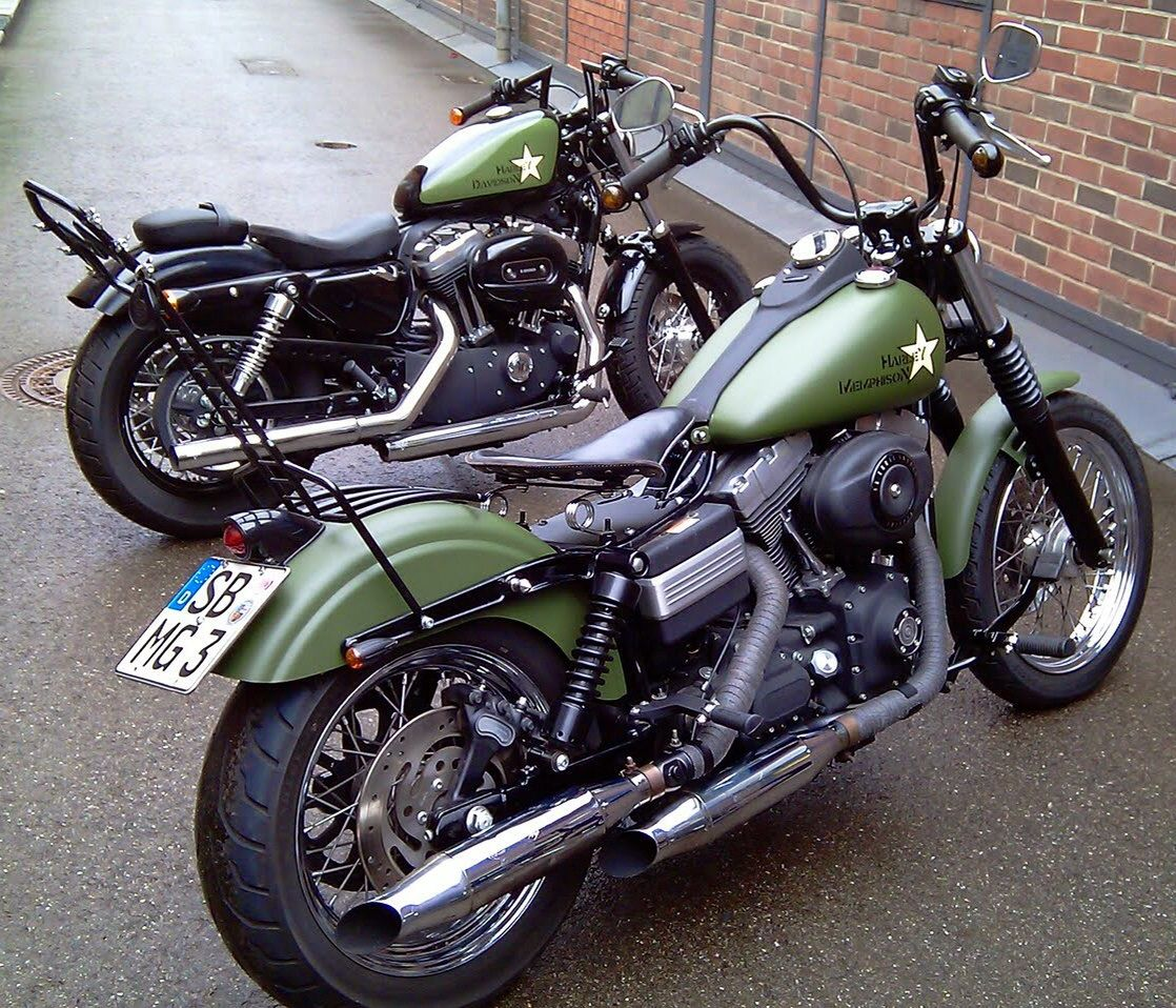 Street bob and forty military paint