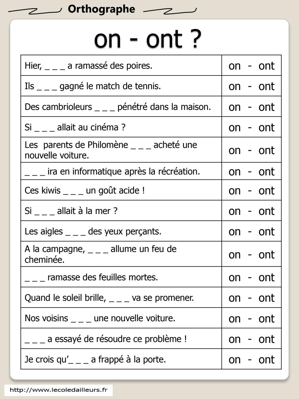 on-ont.pdf - Google Drive | Exercice ce1 à imprimer ...