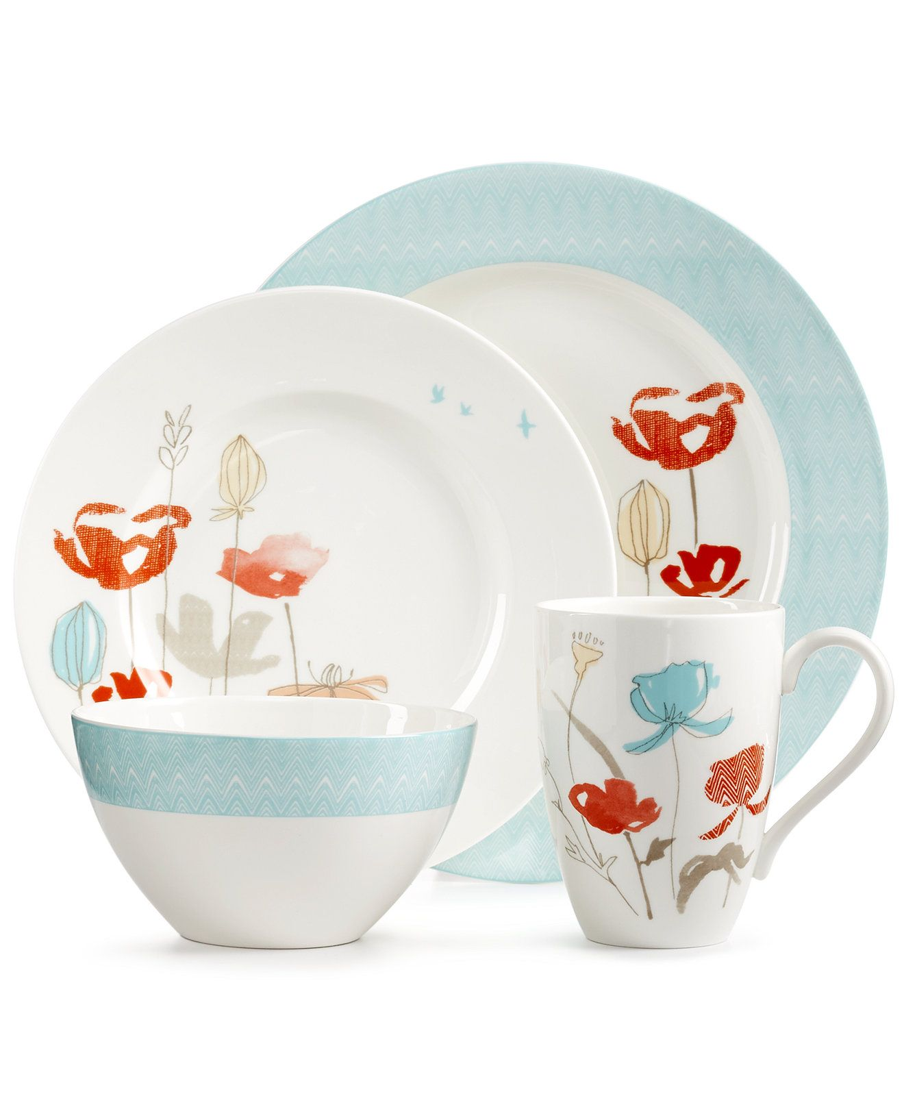 Lenox Poppy Street Bay 4 Piece Place Setting - Dinnerware - Dining u0026 Entertaining - Macyu0027s  sc 1 st  Pinterest & Lenox Poppy Street Bay 4 Piece Place Setting - Dinnerware - Dining ...