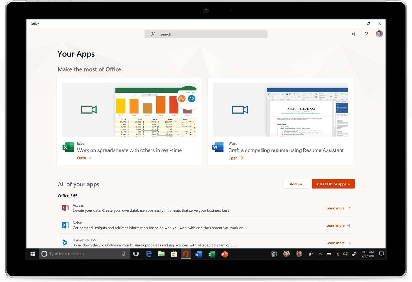 Tech Microsoft launches free Office app for Windows 10