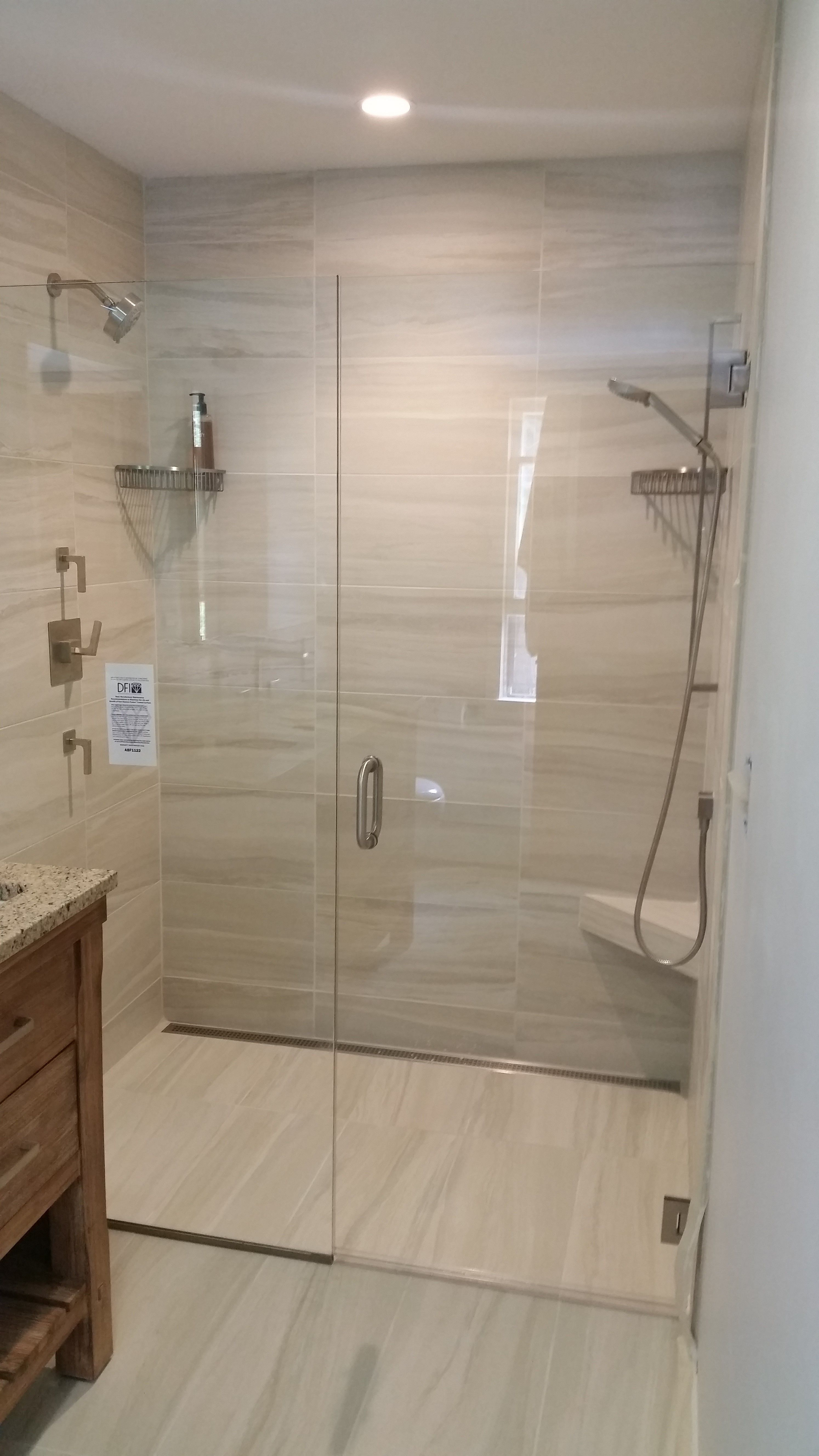 Curbless shower installation by Valley Floors. | Bathroom ...