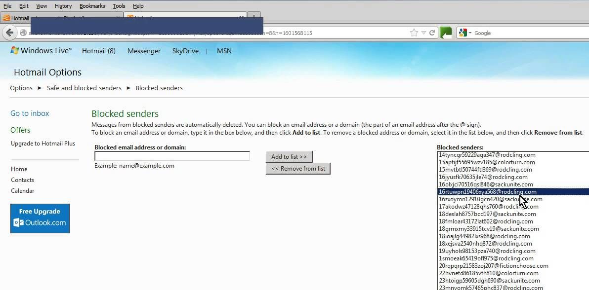 How to block SPAM on email Hotmail Gmail Live etc - YouTube