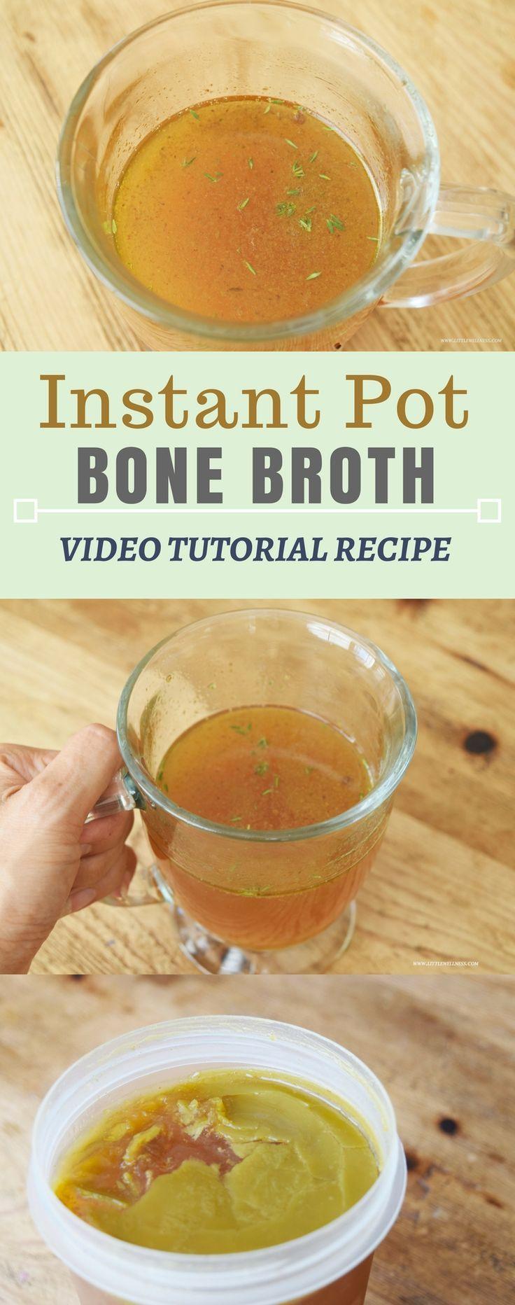 Bone Broth Instant Pot Video Tutorial Recipe. Slow cooker
