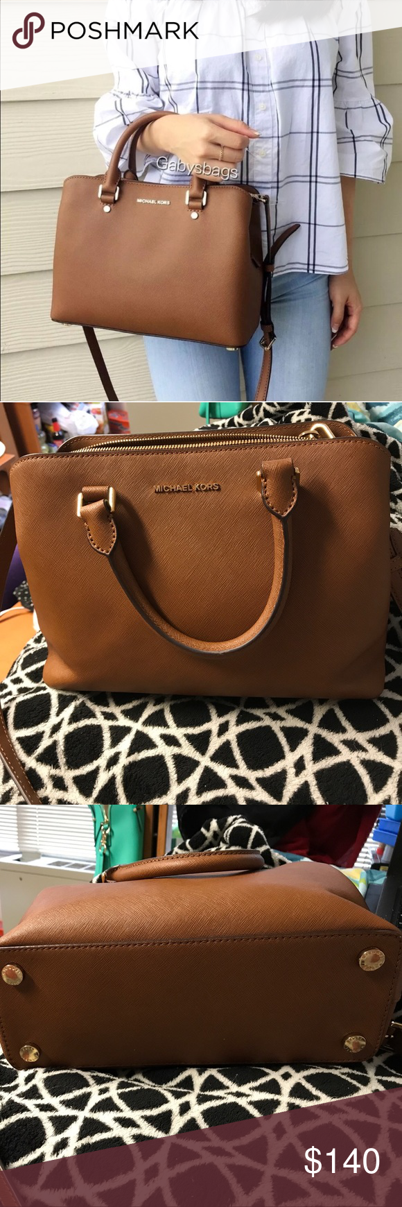 41ccd519b707 MK Savannah handbag Michael kors Savannah medium satchel. Beautiful brown  luggage color for a MK