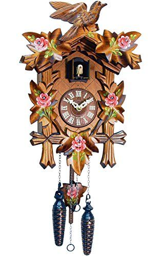 Alexander Taron Importer Black Forest Carved Cuckoo Clock With Red Flowers This Is An Amazon Affiliate Link Want Additional Cuckoo Clock Clock Clock Flower