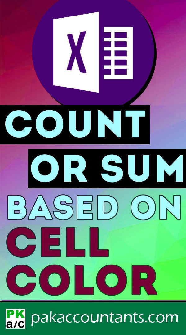 #Excel #Tips: Count or Sum Based on Cell Color