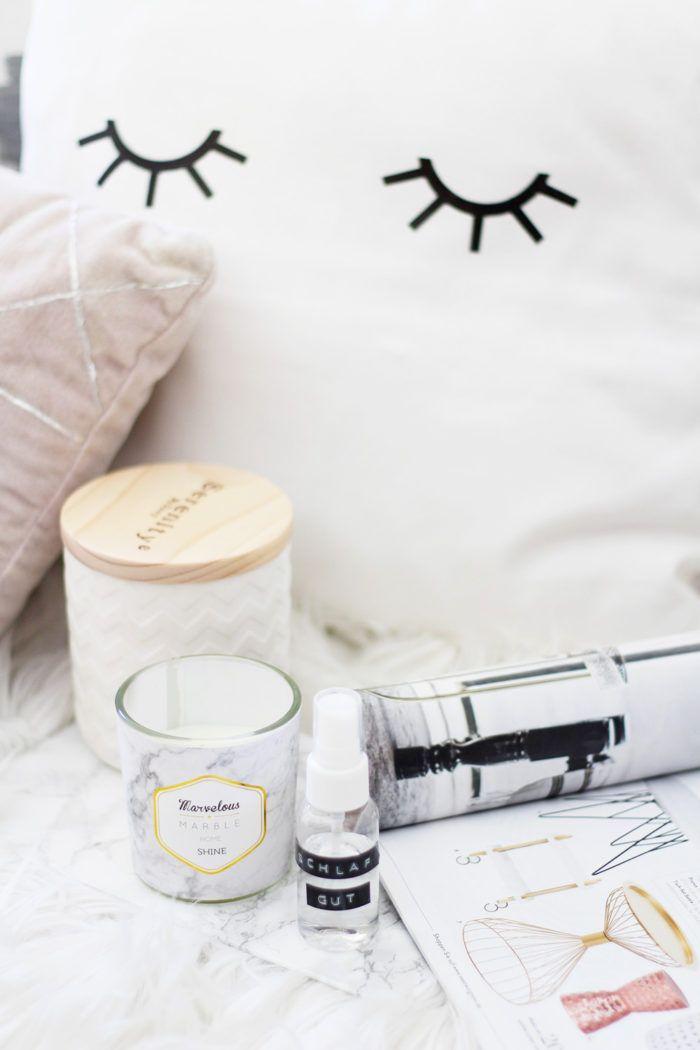 Lavendel Pillow Spray selber machen + 4 gratis Prints für dein - schlafzimmer selber machen
