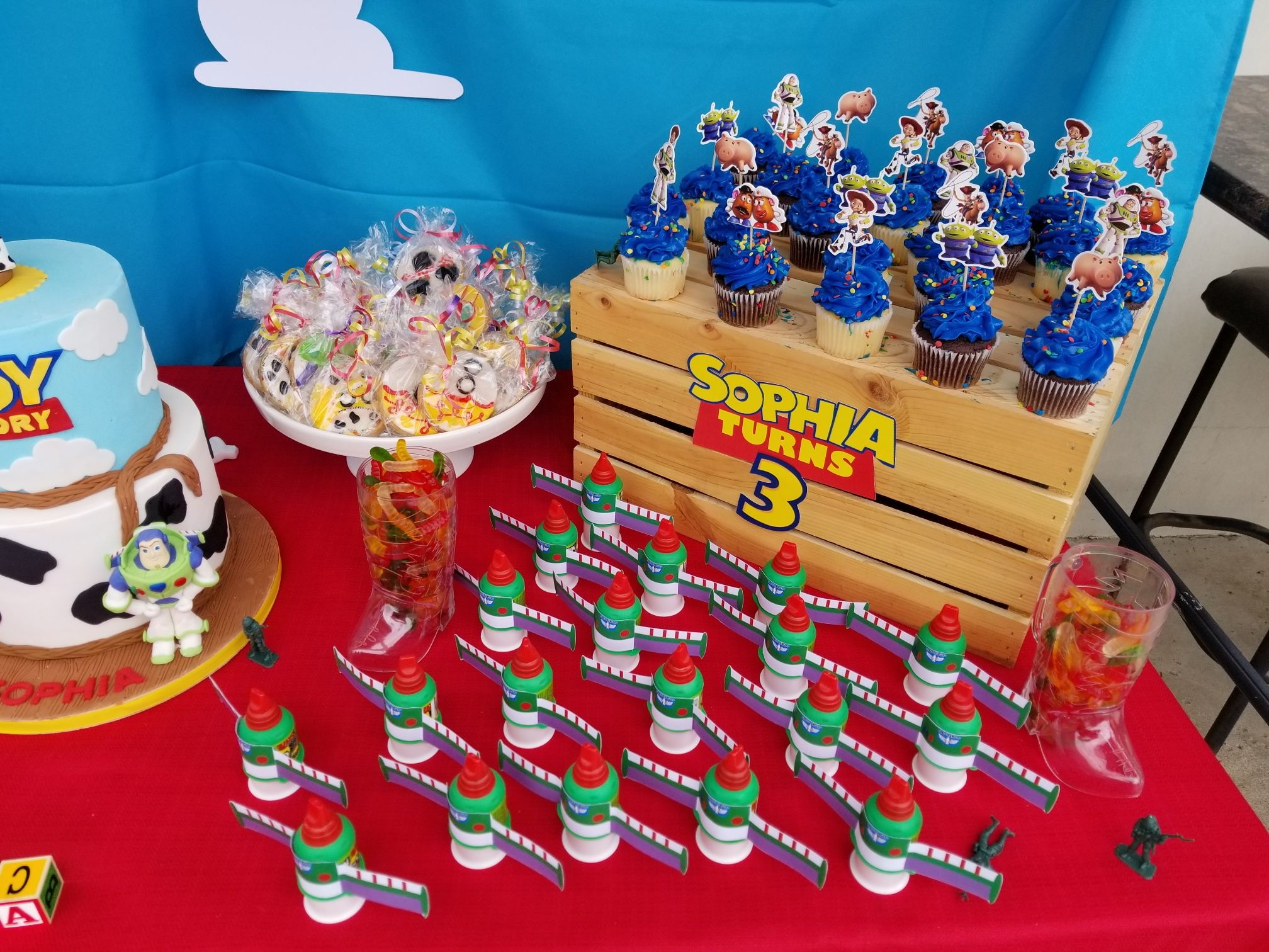 Toy Story Bday Candy Table In 2019 Toy Story Birthday