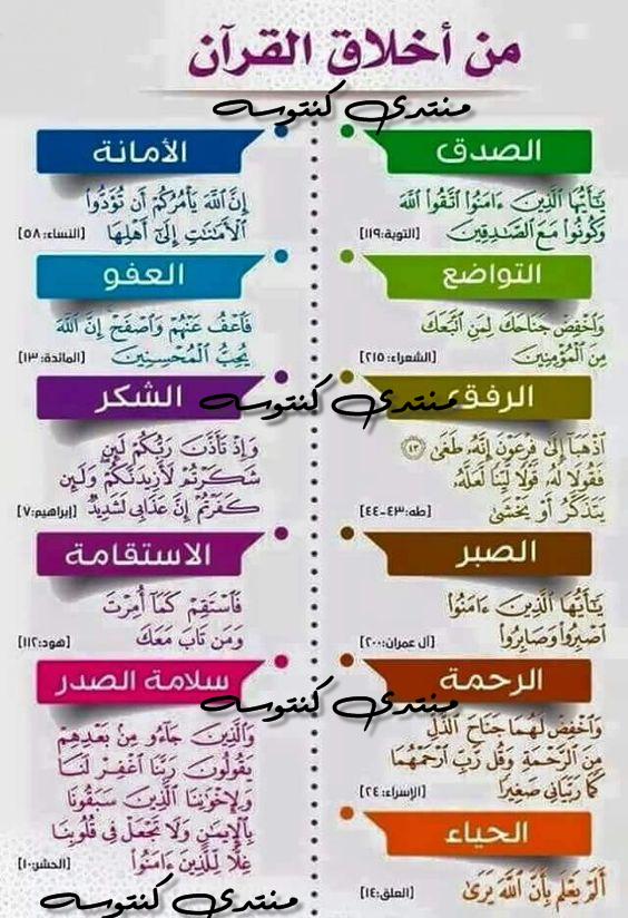 من اخلاق القران الكريم قواعد الاخلاق في القران الكريم Islamic Inspirational Quotes Islam Facts Islamic Quotes Quran
