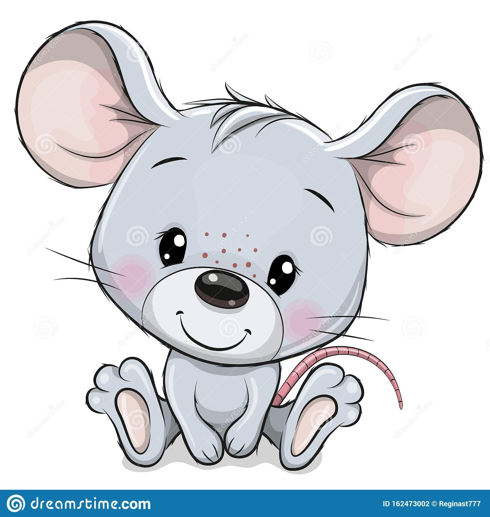 Illustration About Cute Cartoon Mouse Isolated On A White