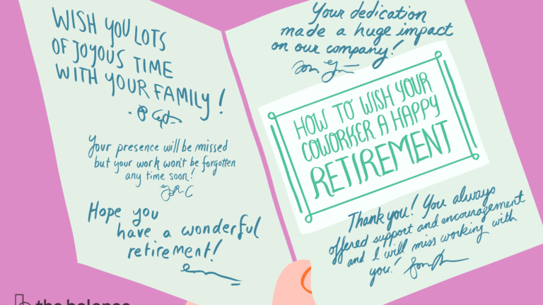 How To Best Wish Your Coworker A Happy Retirement in Sorry