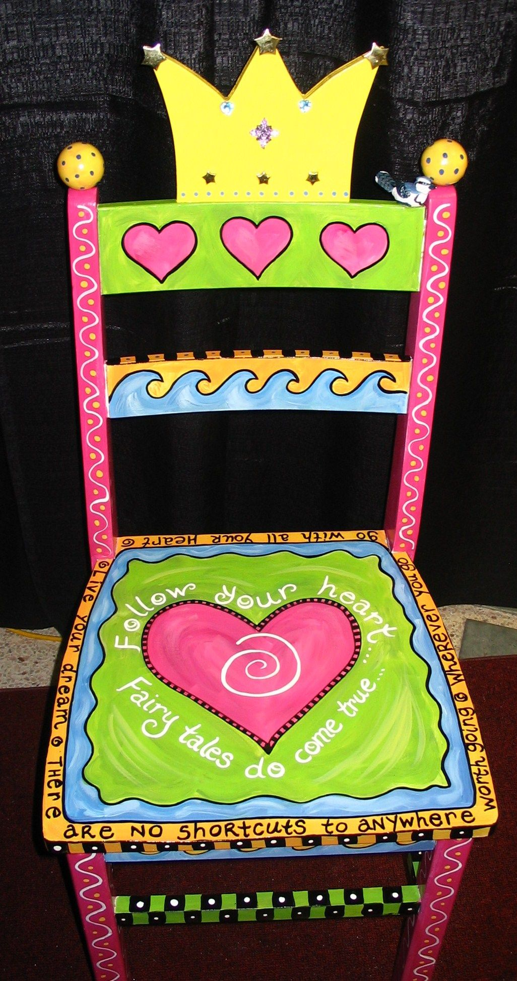 SO going to do this    have the chair from a garage sale    and have the granddaughter coming soon    LOVE this chair!!! is part of Whimsical furniture -