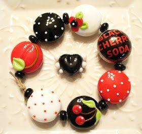 Heather Sellers Art Glass: Retro Black Cherry No.2