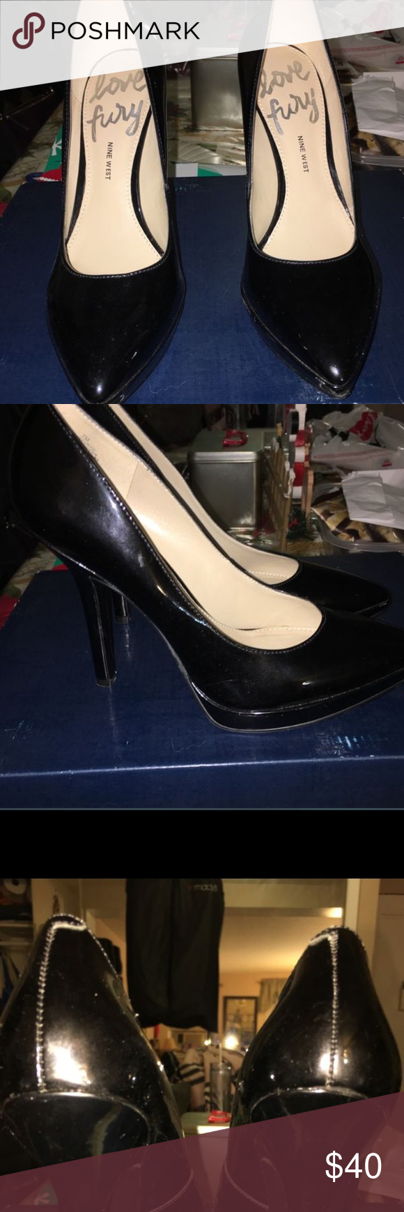ed35eda700eb Nine West Love fury pumps in black Only worn once size 61 2 Love Fury
