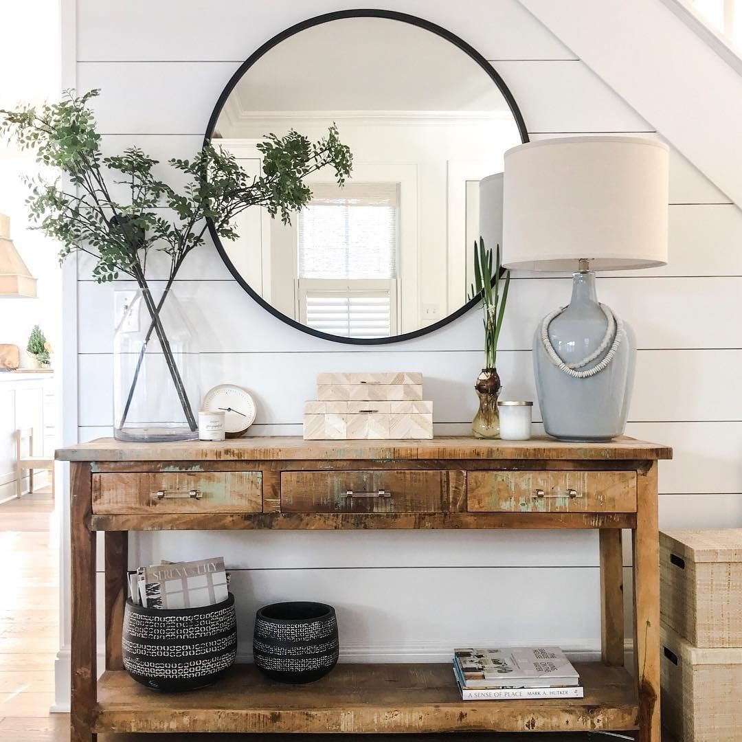Curated Interior On Instagram Entryway Dream With Rustic Console