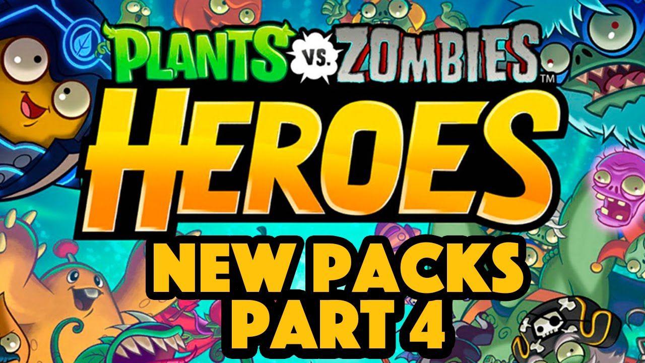 Plants Vs Zombies Heroes Gameplay Part 4 New Packs