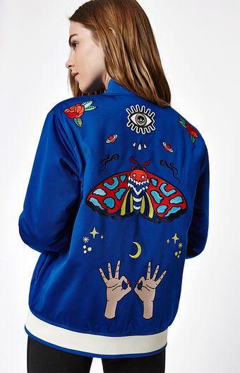 c959c6dac Stay stylish all weekend long in the Embellished Arts Graphic Bomber ...
