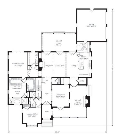 Elberton Way Plan Sl 1561 Main Level Floor Plan Big Dining Room 2 Br On Main Level Big Great Room Southern Living House Plans Elberton Cottage Plan