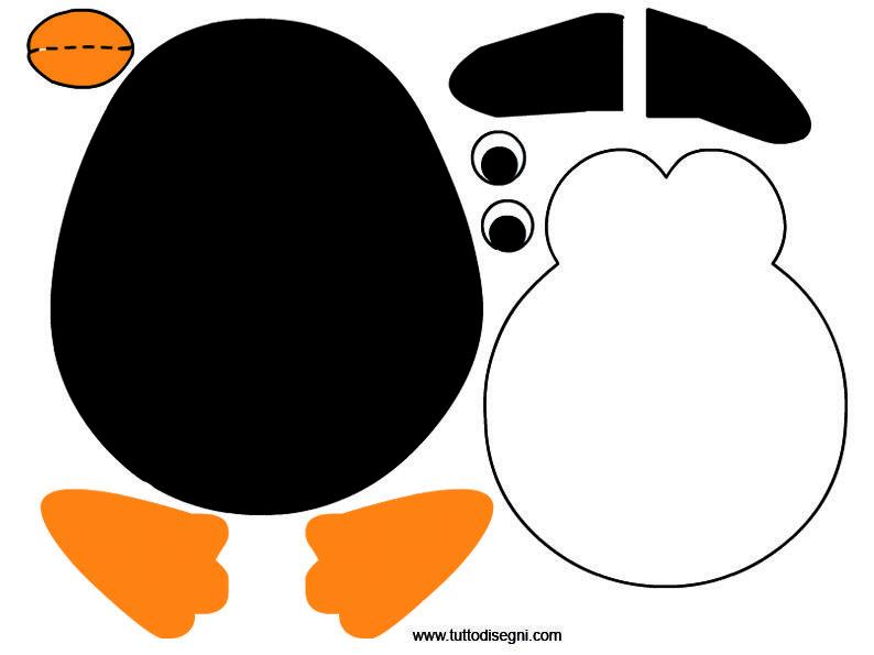 Addobbi aula costruire un pinguino di carta natale for Addobbi per la classe natale