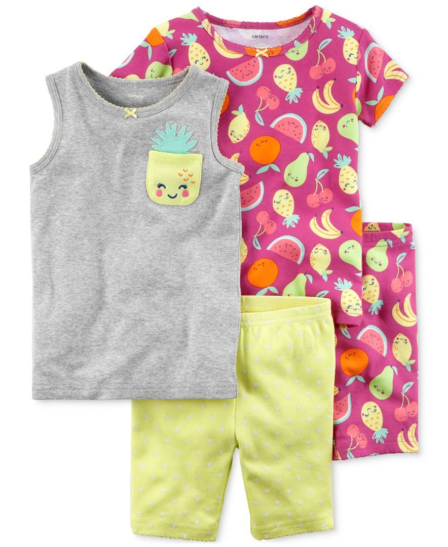 bb59b532e2fe Carter s 4-Pc. Printed Cotton Pajamas Set