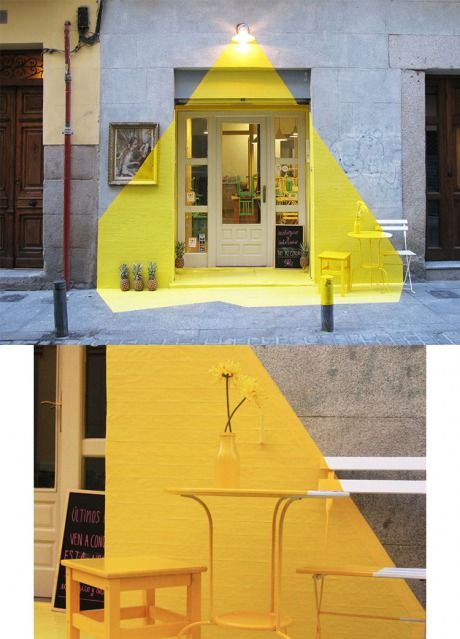 Clever Outdoor Color Installation Mimics Lamplight