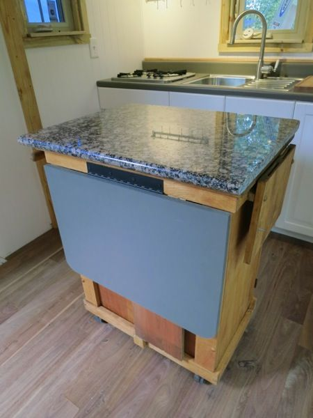 Debt Free Tiny House Built Using Sips And How They Built It Tiny Kitchen Tiny House Decor Marble Top Kitchen Island