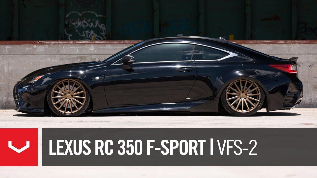 """Lexus RC 350 FSport """"Black & Bronze"""" Vossen VFS2"""