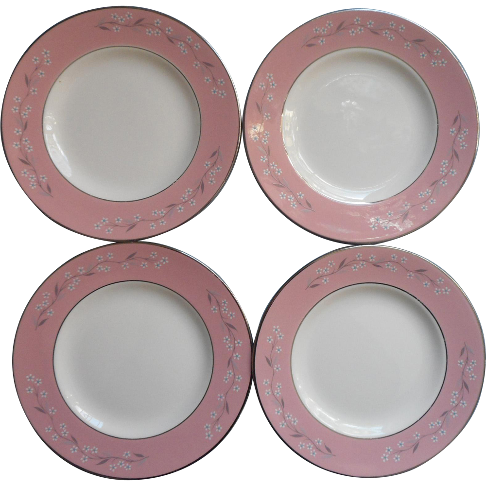1950s Pink Melody Homer Laughlin China Cavalier Bread