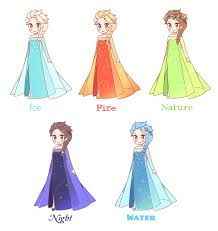 Frozen~elsa with different powers