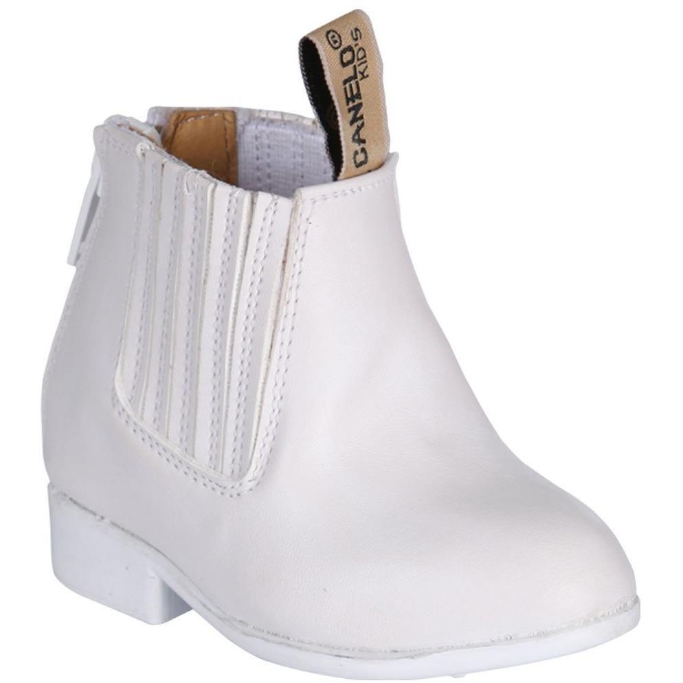 Boys White Charro Boots