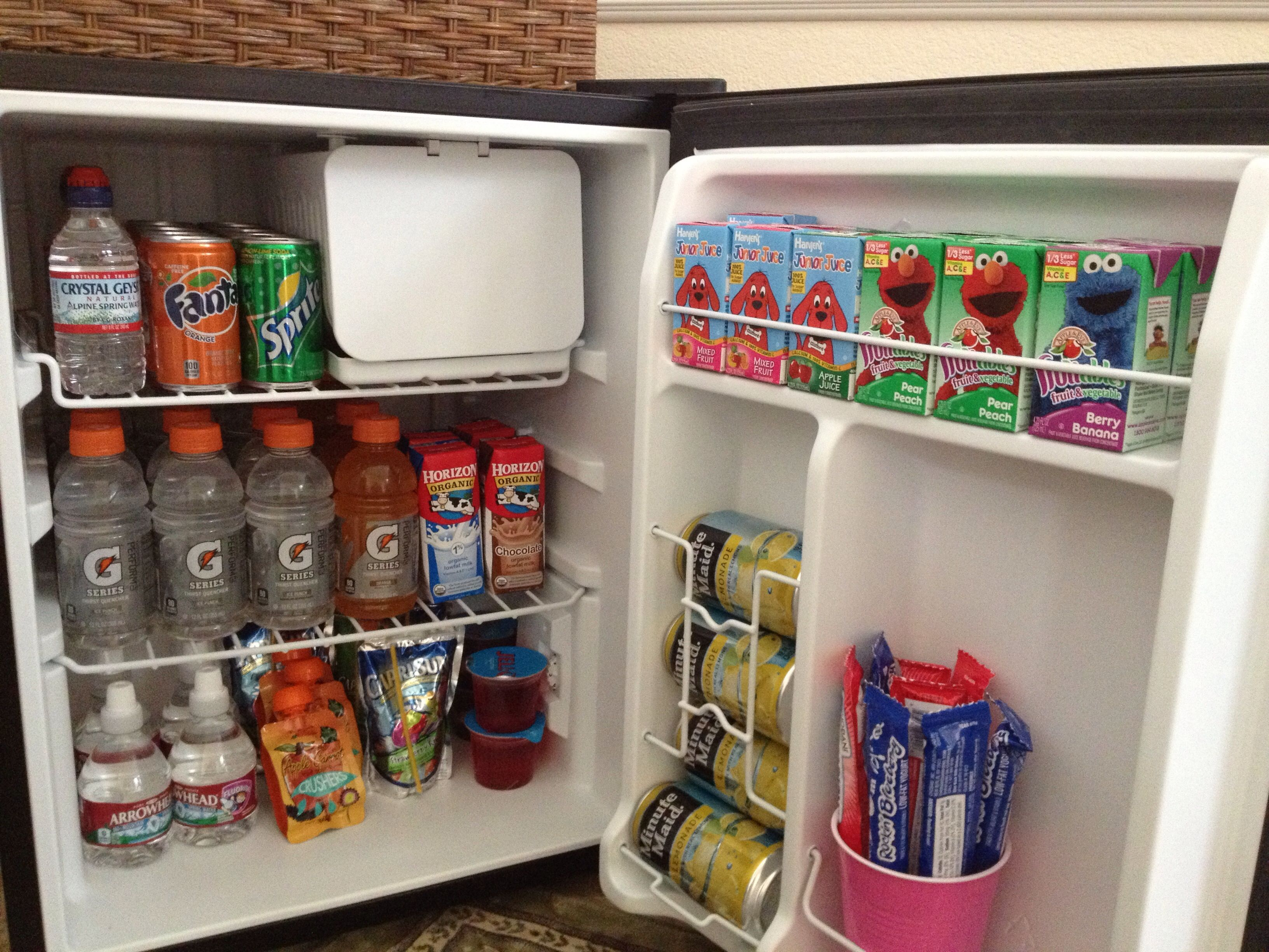 A Self Serve Mini Fridge In The Kids Playroom Stocked With Snacks And Child Friendly Drinks Makes Our Lives So Much Ea Mini Fridge Kids Playroom Self Serve