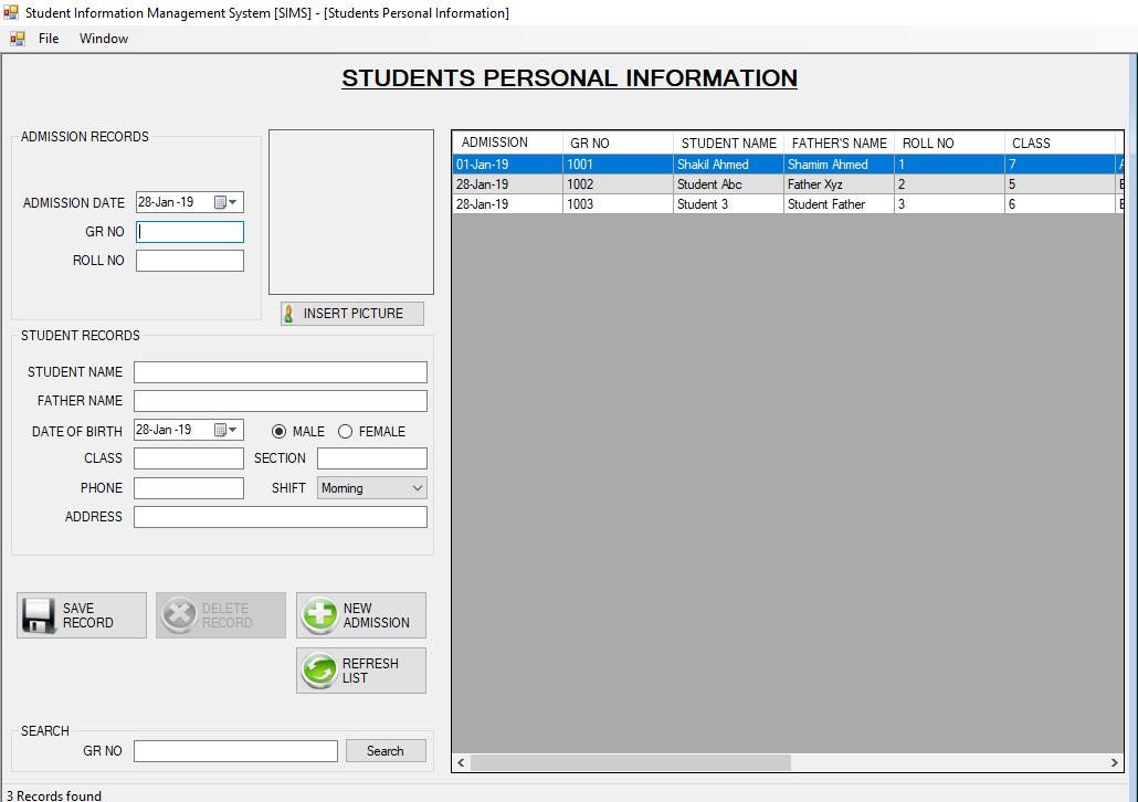 Student Management System   design   Student information, Student