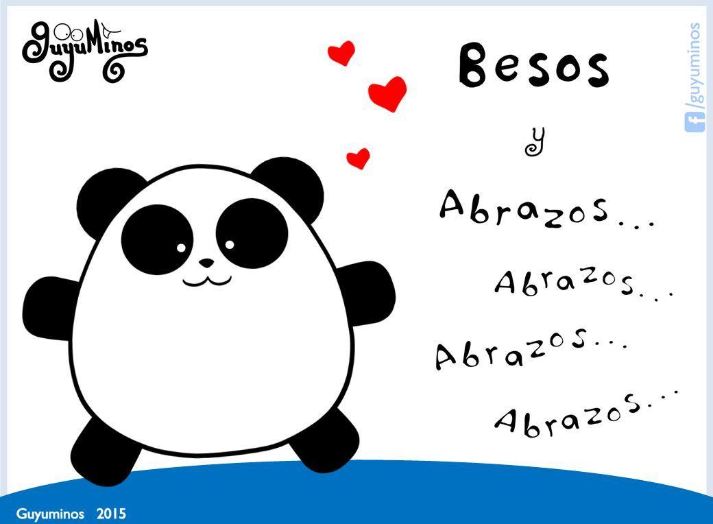 Con Cariño... Besos y muchos Abrazos!!! #guyuminos   #kawaii   #frases   #tarjetas   #cute