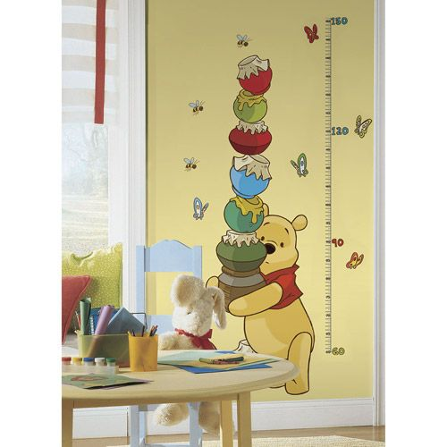 RoomMates Winnie the Pooh and Friends Peel and Stick Metric Growth Chart Wall Decals: Decor : Walmart.com