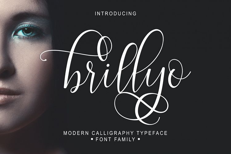 Brillyo script example image fonts fonts
