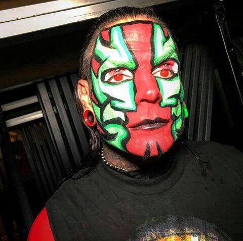 Jeff Hardy   Wwe jeff hardy, Jeff hardy, The hardy boyzJeff Hardy Wrestlemania 25 Face Paint