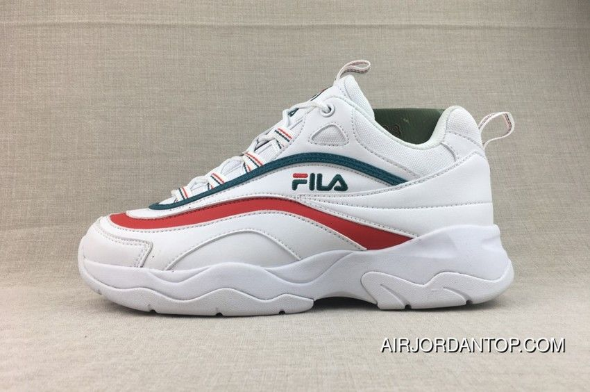 Shop Fila X Folder Ray Dad Sneakers Green Red Best | My ...