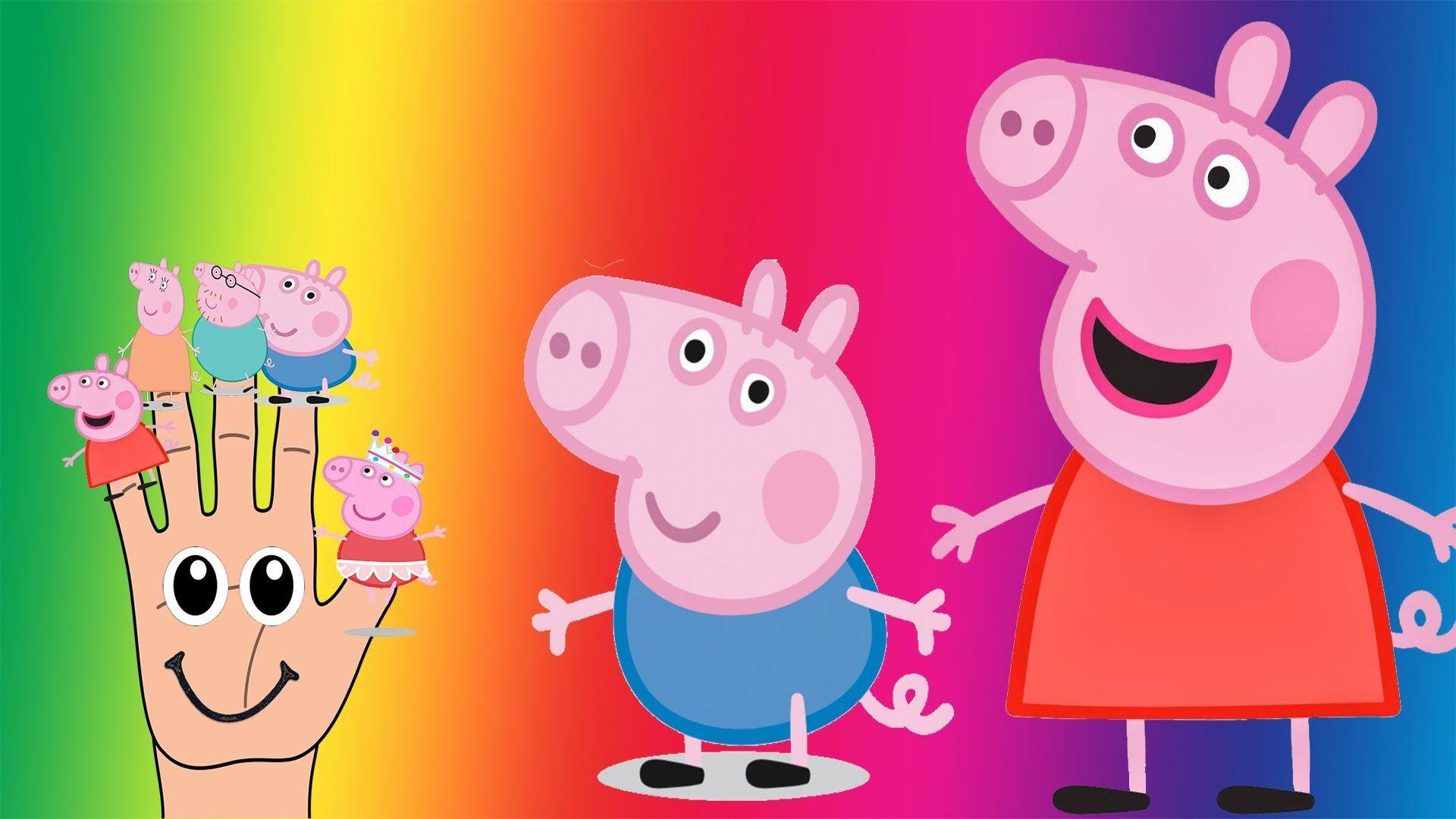 epic finger peppa pig finger family nurse rhymes songs for kids