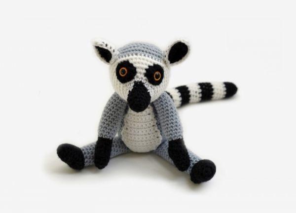 Amigurumi Pattern Net : Loki the ring tailed lemur amigurumi pattern by yukiyarn designs