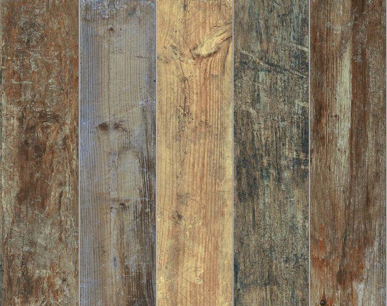 Eco Wood Multi Color Wood Look Tile Wood Wallpaper Vinyl