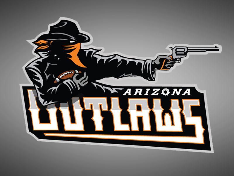 Outlaws Спортивные логотипы, Дизайн логотипов и Логотип