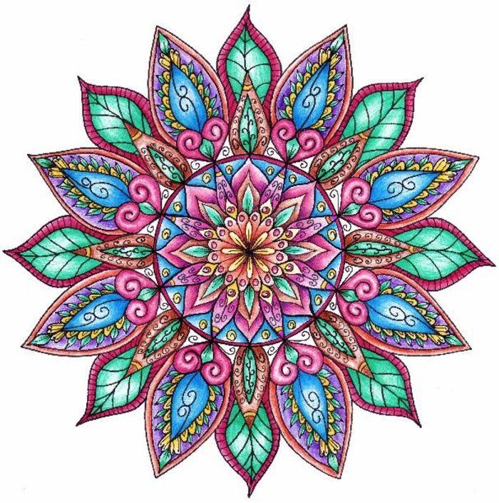 1001 Dessins De Mandala Imprimer Et Colorer Dessin Zen Le Motif Et Colorier