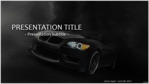 Black Bmw Powerpoint Powerpoint Free Templates Science