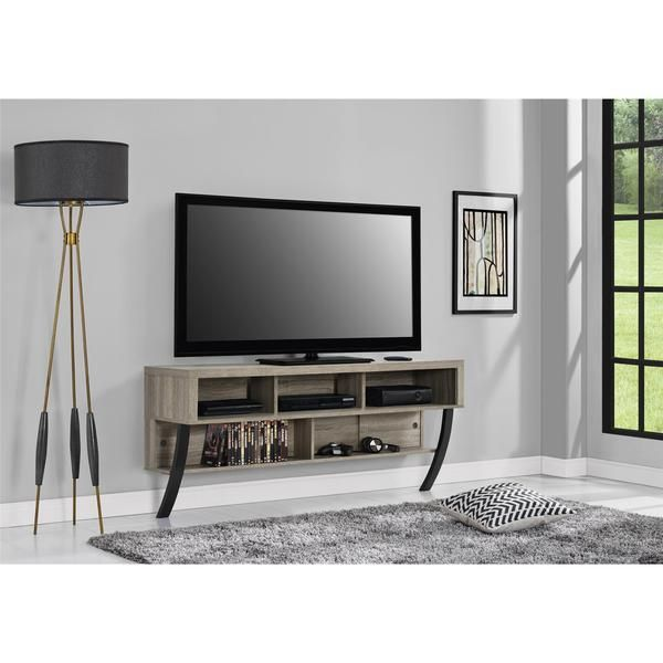 Altra Asher Sonoma Oak Wall Mounted 65 Inch Tv Stand