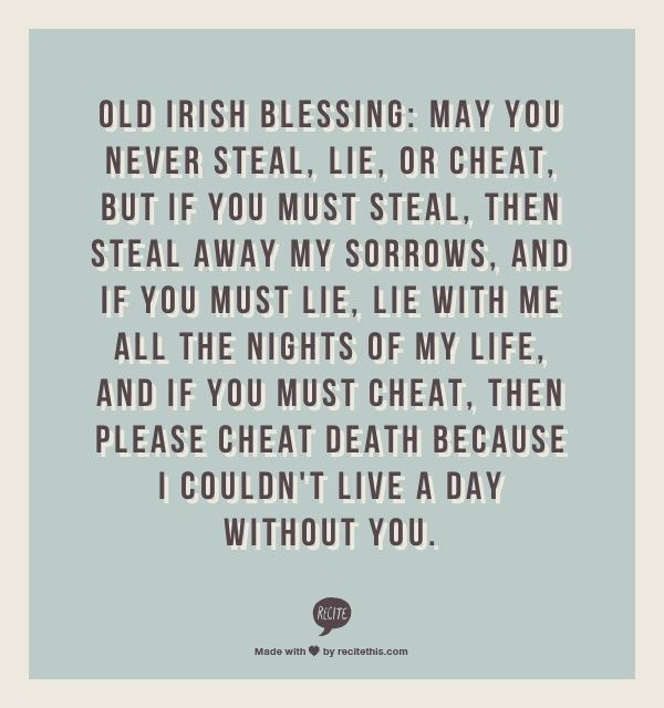 Irish Wedding Quotes: Old Irish Wedding Blessings