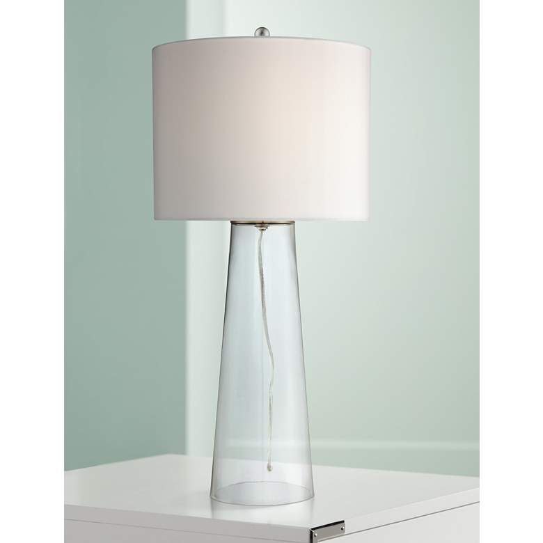 Marcus Clear Glass Tapered Column Table Lamp 8w694 Lamps Plus