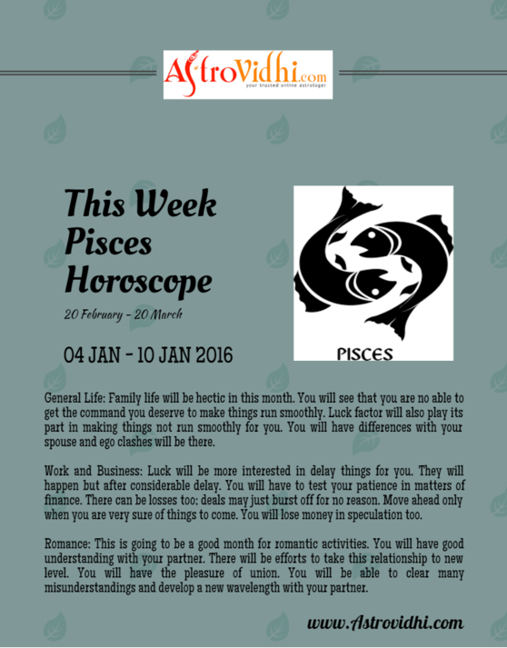 pisces career weekly horoscope
