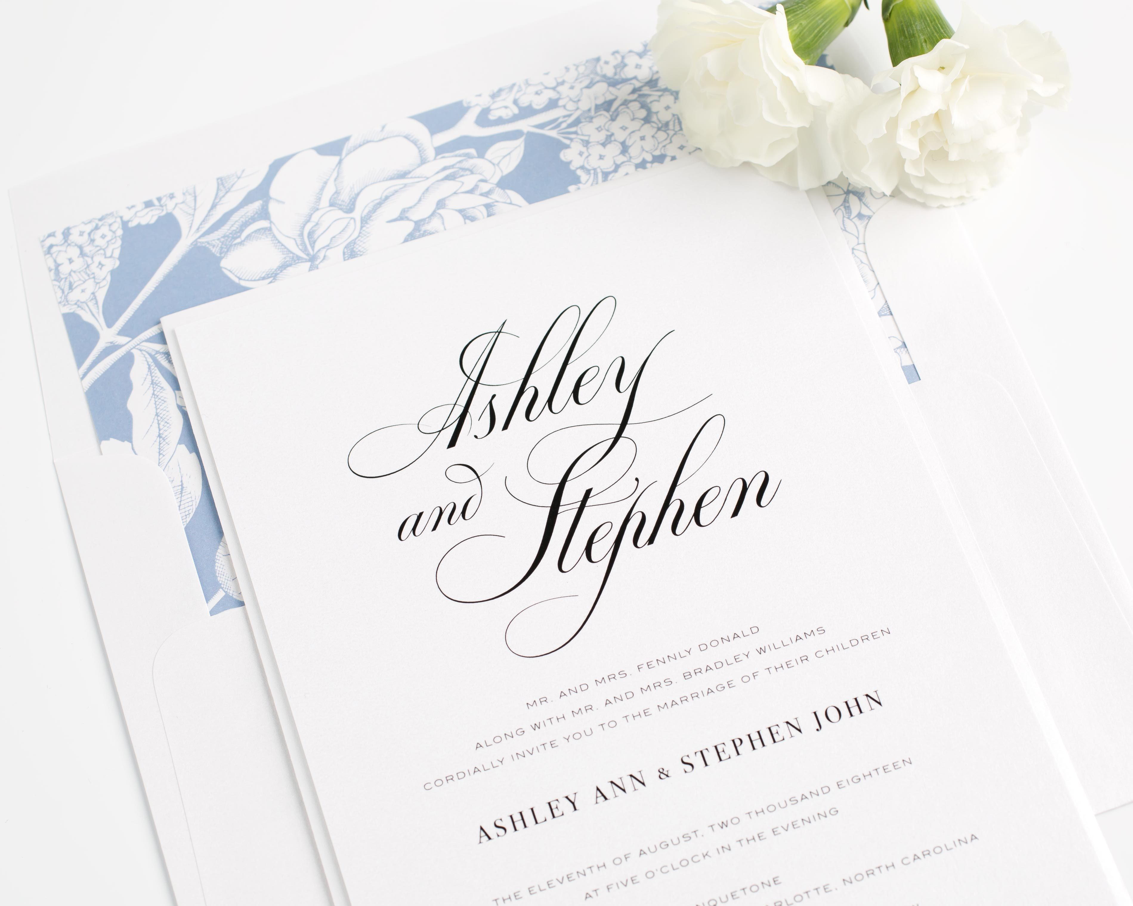 Timeless Calligraphy Wedding Invitations | zaproszenia | Pinterest ...