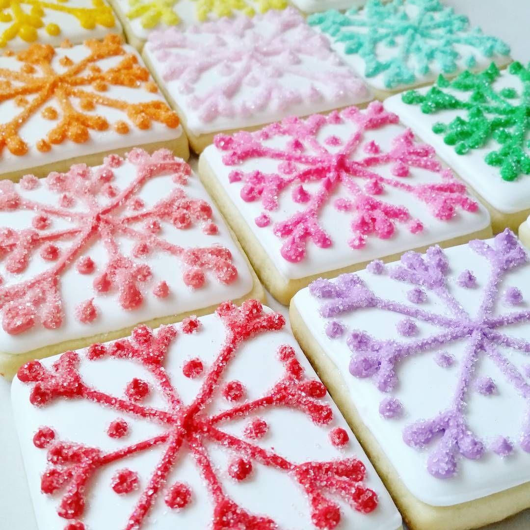 Colorful Christmas Snowflakes Part 3 Snowflakecookies Snowflakes