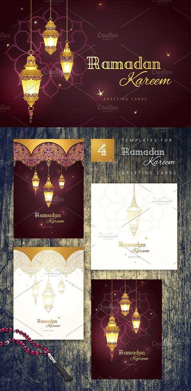 Set Of Pre Made Ramadan Cards Vol 1 Ramadan Cards Menu Card Design Cards